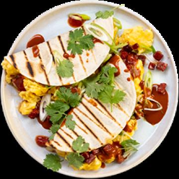 Breakfast - Seriously Cheesy Breakfast Tacos