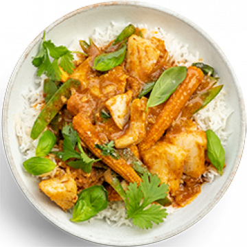 Dinner - Thai Red Fish Curry - Low Cal