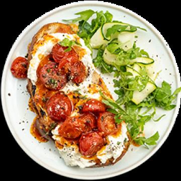 Lunch - Marinated Cherry Tomato & Ricotta Tartine - Low Cal