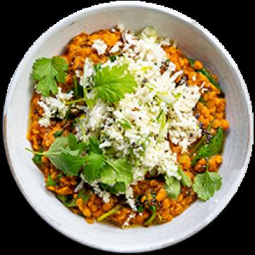 Lunch - Red Lentil Dahl & Cauliflower Salad - Low Cal