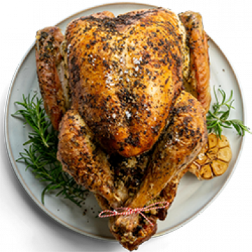 Dinner - Christmas Turkey with Herby Orange Butter