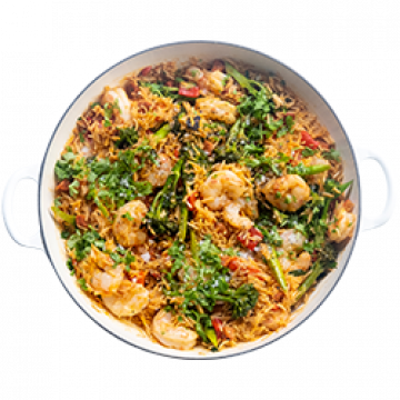 Dinner - Smokey Prawns & Rice - Low Cal