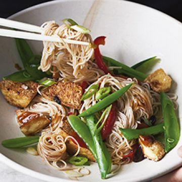 Dinner - Black Bean Tofu Stir-fry - Low Cal