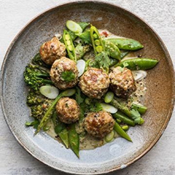 Dinner - Thai-style Meatballs - Low Cal