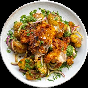 Dinner - Crispy Chicken Potato Salad - Feb