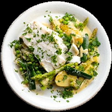 Dinner - Parsley Cream Cod - March
