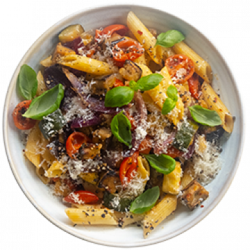 Lunch - One Tray Roast Vegetable Pasta - March
