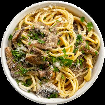 Lunch - Creamy Garlic Mushroom Pasta - March