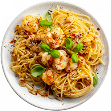 Lunch - Spicy Prawn Aglio e Olio - March