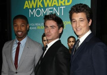 Zac Efron at That Awkward Moment premiere with Miles Teller, Imogen Poots, Ashley Tisdale & more