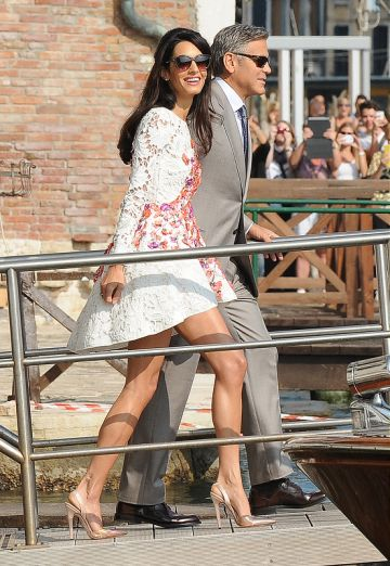 George Clooney and his new wife Amal Alamuddin appear for the first time after marrying