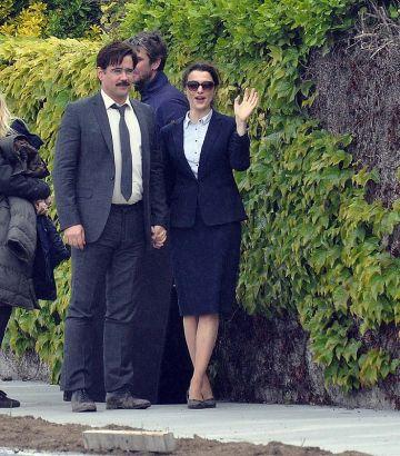 Colin Farrell and Rachel Weisz film 'The Lobster' in Dublin