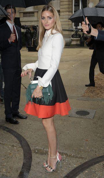Celebrities Leaving the Valentino Cat Walk Show