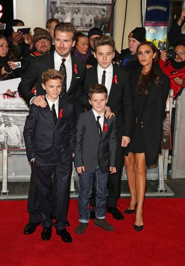 The Beckhams and friends at the Class of 92 World Premiere