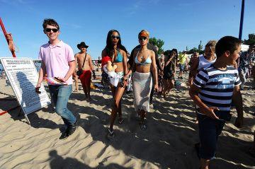 Rihanna at the beach