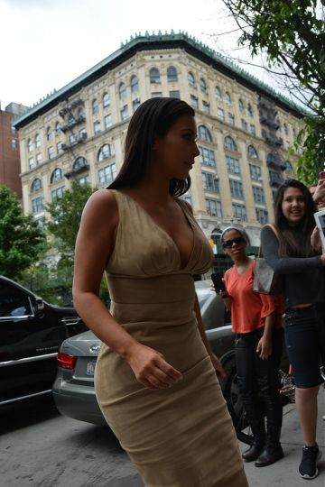The Kardashians filming in New York
