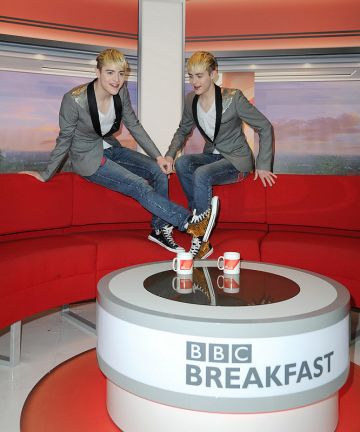 Jedward at BBC Studios