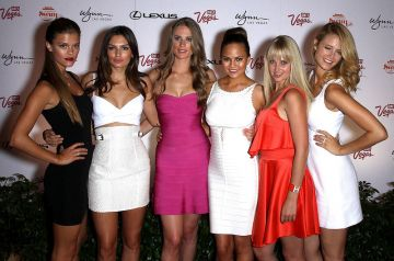 Sports Illustrated Swimwear models party