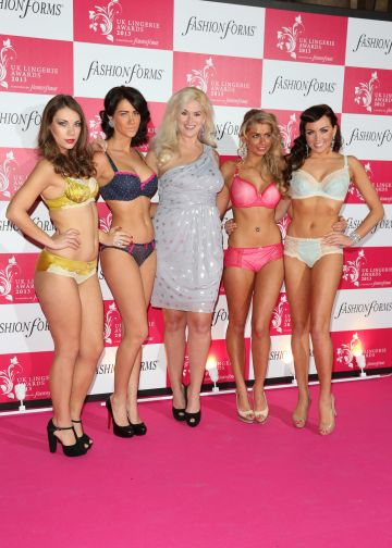Georgia Salpa at the UK Lingerie Awards with TOWIE stars & friends