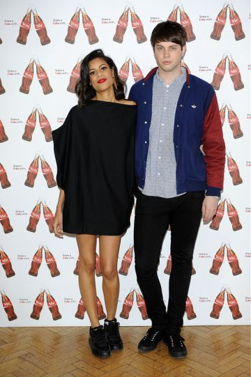 Nick Grimshaw and TV stars at Coca Cola campaign