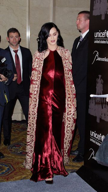 Katy Perry at the UNICEF Snowflake Ball: with Christina Ricci & friends