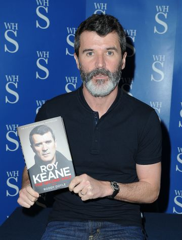 Roy Keane signs copies of his book in Manchester