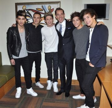 One Direction, Virginia Macari and David Norris at The Late Late Show