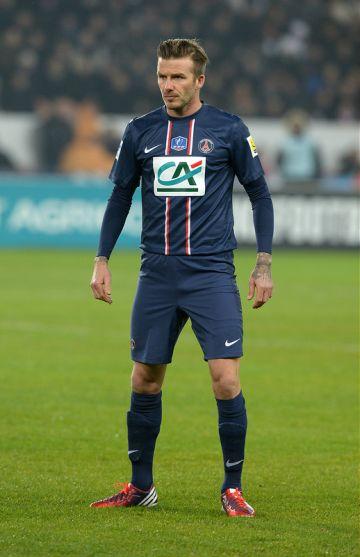 David Beckham in shorts