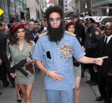 Sacha Baron Cohen arrives in style