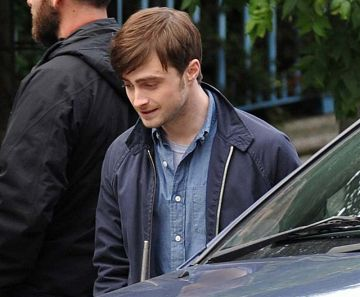 Daniel Radcliffe on set in Dublin