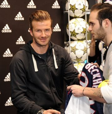 David Beckham at the adidas store Champs-Elysees