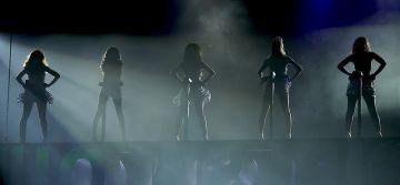 Girls Aloud performing in London