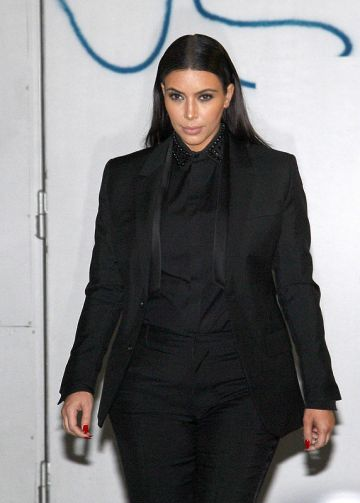 Kanye West and a pregnant Kim Kardashian in Paris