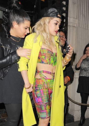 Celebrities leaving Rita Ora's wrap party at Mahiki