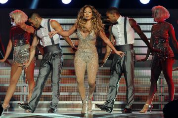 Jennifer Lopez Performing In Skin Tight Costume