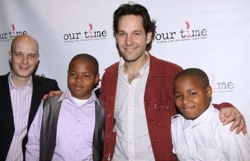 Paul Rudd and friends at All Star Bowling Event