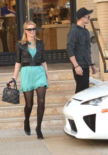 Paris Hilton and her boyfriend River Viiperi