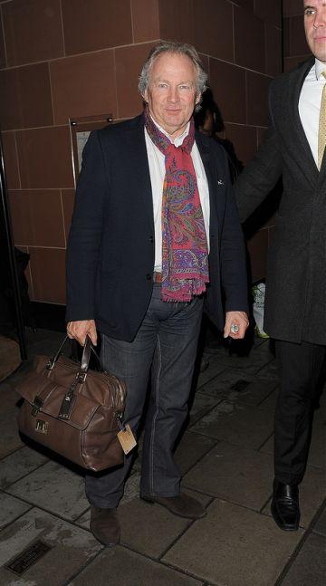 Celebs leaving 'C' restaurant in London