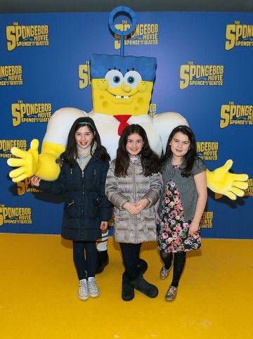 Irish Premiere of The SpongeBob Movie: Sponge Out Of Water at Odeon Point Village