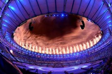 Olympics 2016 Closing Ceremony in Rio de Janeiro, Brazil