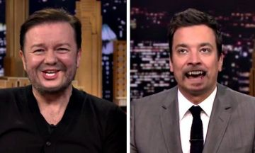 Watch: one of the weirder Ricky Gervais interviews out there, courtesy of Jimmy Fallon