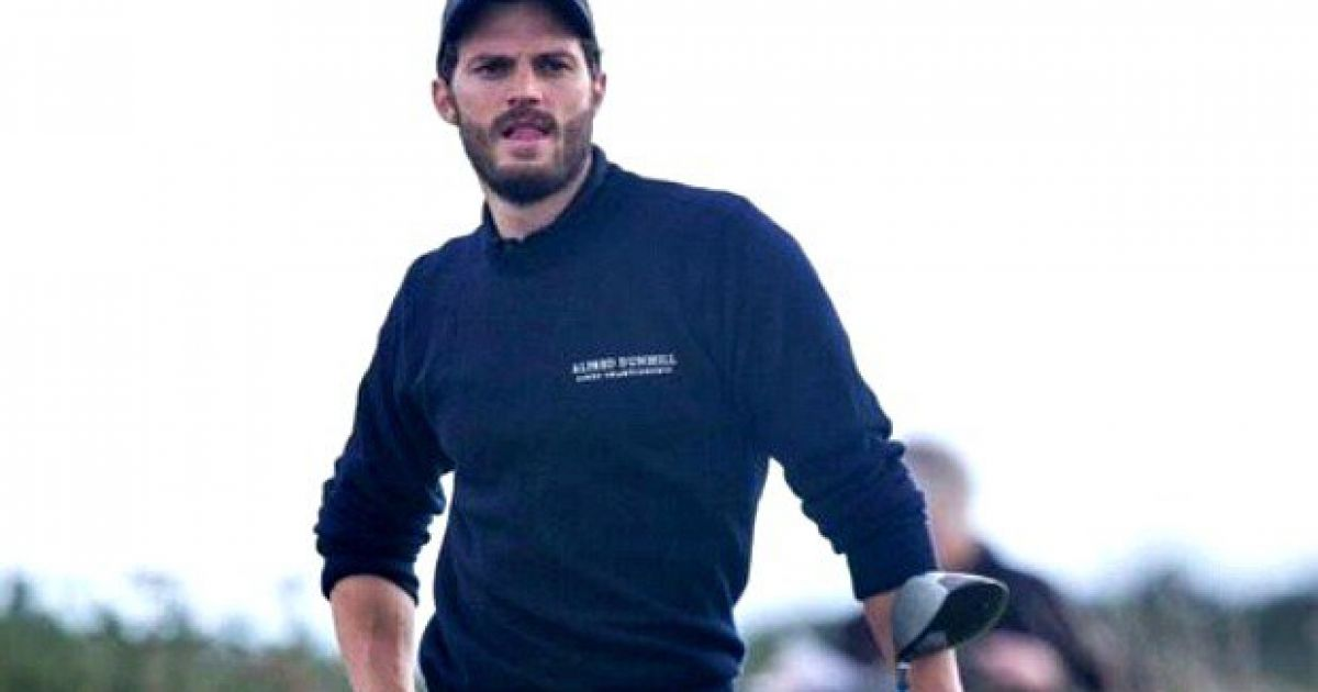 Watch Jamie Dornan Working His Forearm Rotation At St Andrews