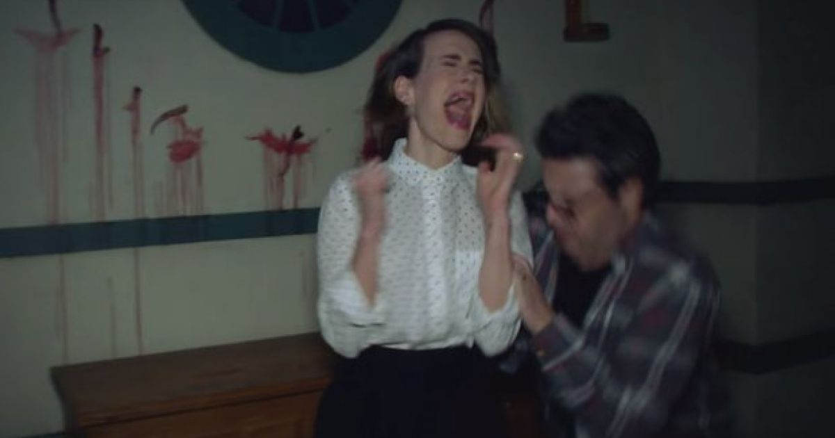 Watch Here S American Horror Story S Sarah Paulson Screaming Her