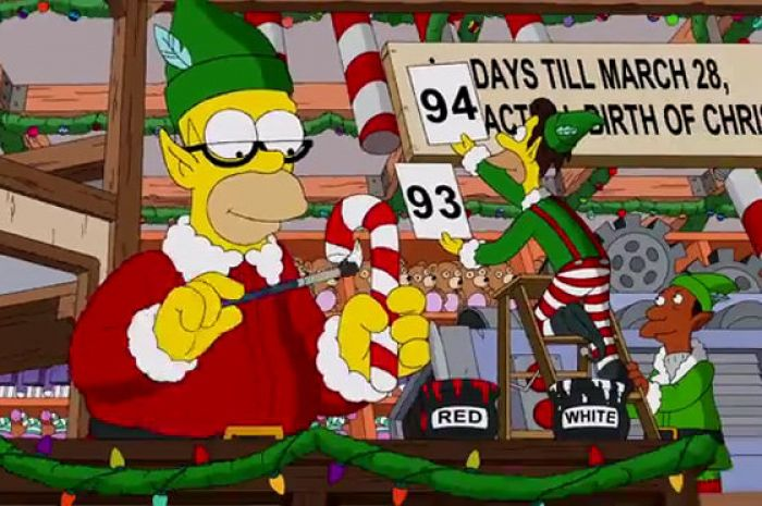 Simpsons Christmas.Watch The Simpsons Christmas Couch Gag Will Get You In The