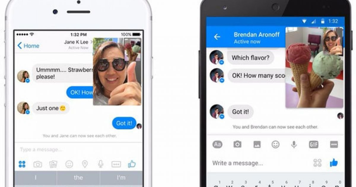PIC: Facebook Messenger now lets you video chat and text at