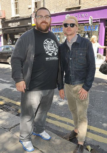 Nick Frost and Simon Pegg out in Dublin