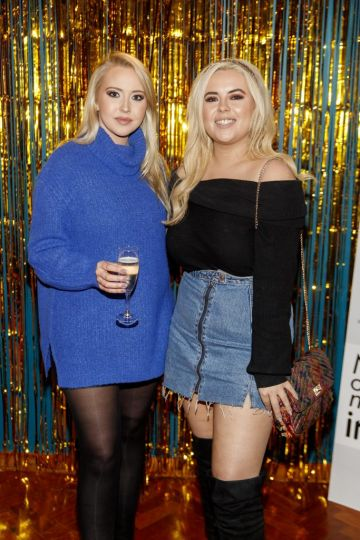 Kendra Becker and Ali Ryan pictured at the instax Christmas party that showcased the perfect selection of must-have gifts. Picture Andres Poveda