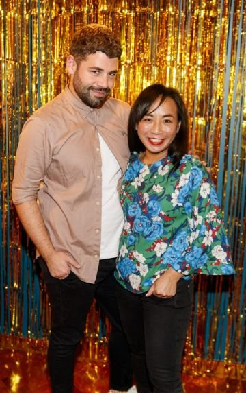 John Charles and Ella De Guzman pictured at the instax Christmas party that showcased the perfect selection of must-have gifts. Picture Andres Poveda