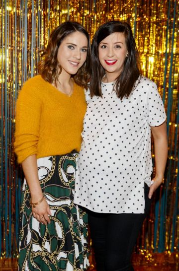 Jessica Sheridan and Shoshannah Wood pictured at the instax Christmas party that showcased the perfect selection of must-have gifts. Picture Andres Poveda