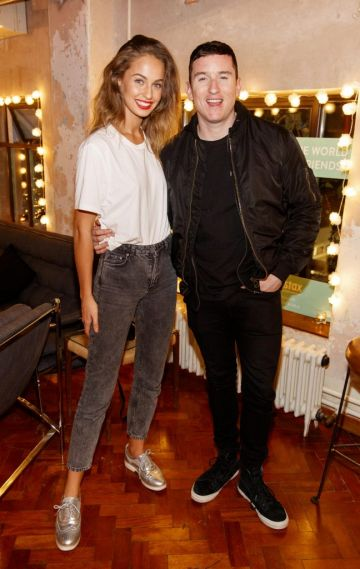 Thalia Heffernan and Evan Doherty pictured at the instax Christmas party that showcased the perfect selection of must-have gifts. Picture Andres Poveda